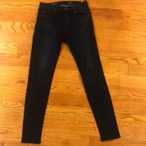 Barely worn AG high-rise skinny jeans